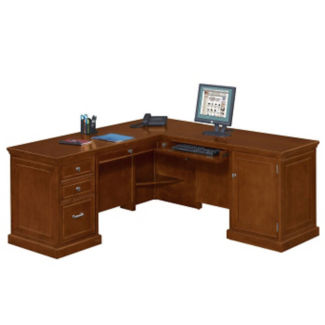 Compact L-Desk with Right Return, D30184
