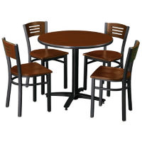 "36"" Round Table and 4 Chairs, D45196"