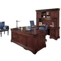 U Desk Right with Hutch, D10106