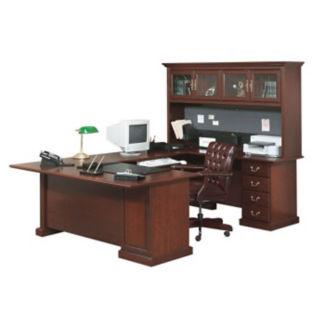 "Executive U-Desk with Hutch - 107"" D x 70.5"" W, D30173"