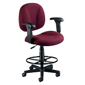 Drafting Stool with Arms, C80258
