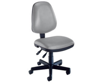 Armless Mobile Task Chair in Vinyl Upholstery, C80046