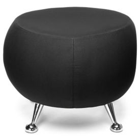 Low Fabric Stool with Chrome Legs, C80460