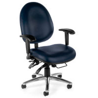 Vinyl Heavy-Duty Big & Tall 24 Hour Ergonomic Chair, C80321