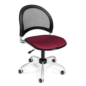 Mesh Back Moon Armless Swivel Chair, C80260