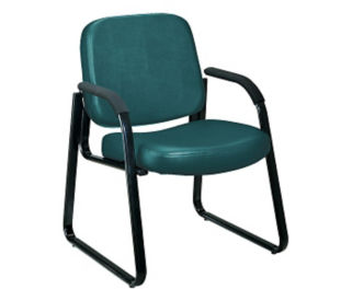 Guest Chair with Arms Vinyl, C80082