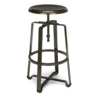 Adjustable Height Tall Stool with Metal Seat, L70106