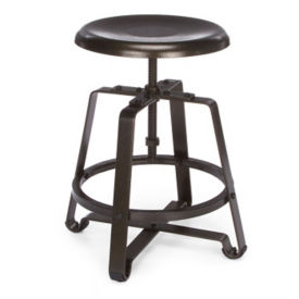 Adjustable Height Short Stool with Metal Seat, L70108