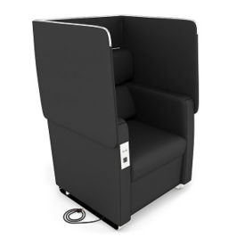 Faux Leather Privacy Panel Chair, C80461
