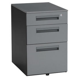 3-Drawer Steel Mobile File Pedestal, B34589