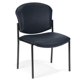 Anti Microbial Vinyl Armless Stack Chair, C60009