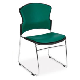 Antimicrobial Vinyl Stackable Guest Chair, C67839