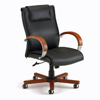 Mid-Back Leather Chair, C80115