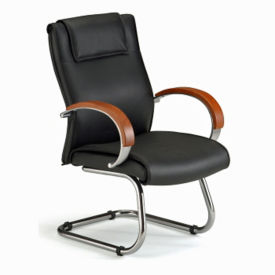Cantilever Base Leather Chair, C80116
