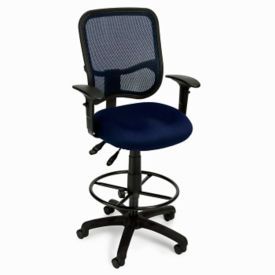 Mesh Drafting Stool with Arms, C80123