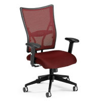 Mid Back Mesh Back Fabric Seat Chair, C80124