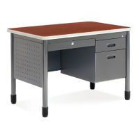 "42"" Compact Single Pedestal Desk, D35077"