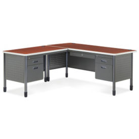 Metal L-Desk with Left Return, D35081