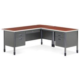 Metal L-Desk with Right Return, D35082