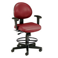 24 Hour Vinyl Stool with Adjustable Arms, D57277