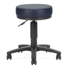Vinyl Exam Stool with Footrest, D57279