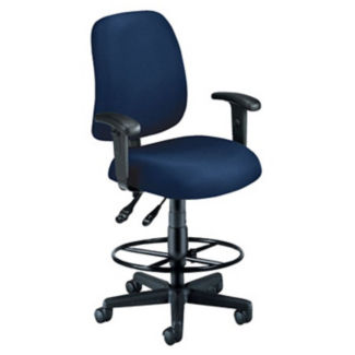 Fabric Posture Task Stool with Adjustable Arms, D57281