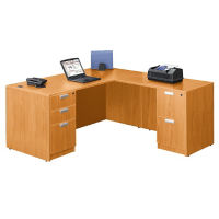 "Contemporary Compact L-Desk - 66"" x 78"", D30241"