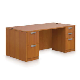 "Contemporary Executive Desk - 66""W, D30246"