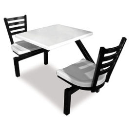 Square Outdoor Table with Two Chairs, F10021