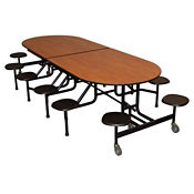 "Custom Logo 12 Seat Mobile Cafeteria Table - 27""H, K10054"