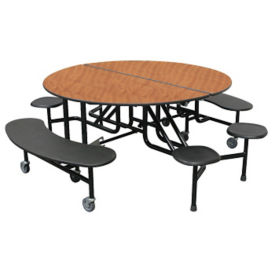 "Custom Logo Mobile Table with Eight Mixed Seats - 27""H, K10059"