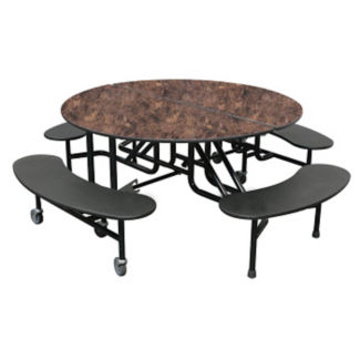 "Custom Logo Mobile Table with Four Benches - 29""H, K10060"