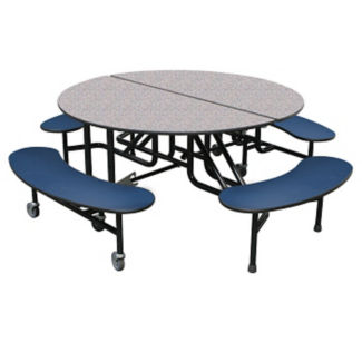 "Custom Logo Mobile Table with Four Benches - 27""H, K10061"
