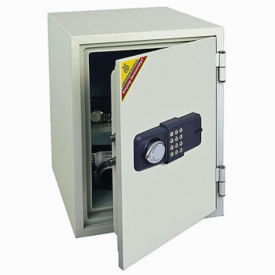 Fire Resistant Safe with Electronic Lock - 1.3 Cubic Ft Capacity, L40375