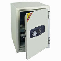 Fire Resistant Safe with Two Locks - 1.3 Cubic Ft Capacity, L40372