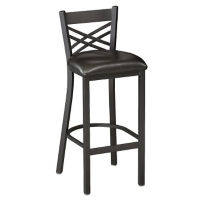 "Cross-Back Stool 30"" High, D45184"