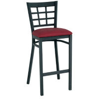 "Grid-Back Stool 30"" High, D45186"