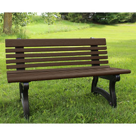 "Recycled Plastic Outdoor Bench with Back - 48""W, F10827"