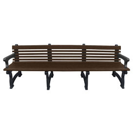 "Recycled Plastic Outdoor Bench with Back and Arms - 96""W, F10832"