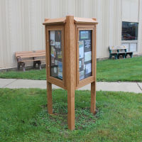 Three Sided Outdoor Kiosk, B23357