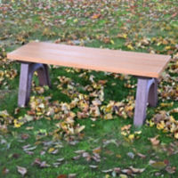 Recycled Plastic Economy Outdoor Bench without Arms - 4 Ft, F10561