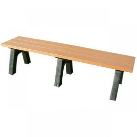 Recycled Plastic Economy Outdoor Bench - 6 Ft, F10563