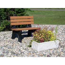 Recycled Plastic Outdoor Bench without Arms - 4 Ft, F10573