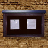 "Wall Mounted Outdoor Message Center - 40""W x 30""H, B23365"