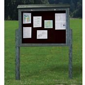 "Single Sided Outdoor Message Center - 52""W x 96""H, B23366"