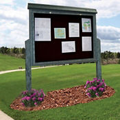 "Double Sided Outdoor Message Center - 52""W x 96""H, B23367"
