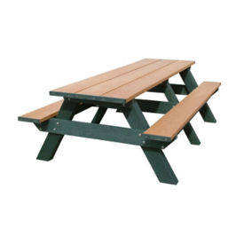 "Standard Recycled Plastic Picnic Table - 96""W, F10189"