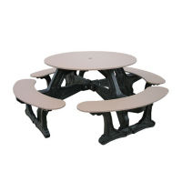 Cantina Style Recycled Plastic Picnic Table, F10194