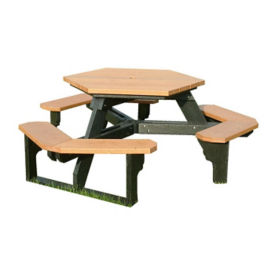 Standard Recycled Plastic Hexagonal Picnic Table, F10196