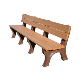 "Traditional Recycled Plastic Outdoor Bench - 96""W, F10200"
